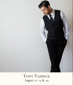 Tony Yazbeck at 54 Below - Press Release Photo