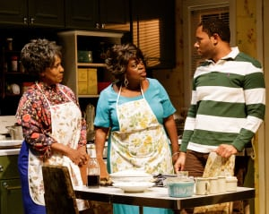 "Elain Graham, Lillias White & Larry Powell in ""While I Yet Live"" at Primary Stages (photo: James Leynse)"