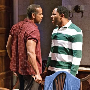 "Kevyn Morrow & Larry Powell in ""While I Yet Live"" at Primary Stages (photo: James Leynse)"