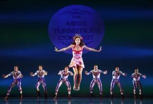 "Megan Fairchild & the men's ensemble in ""On The Town"" (photo: Joan Marcus)"
