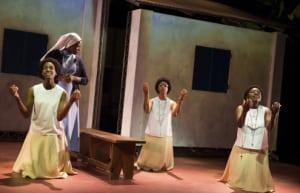 "Nneka Okafor, Starla Benford, Mandi Masden & Joaquina Kalukango in ""Our Lady of Kibeho"" (photo: Joan Marcus)"