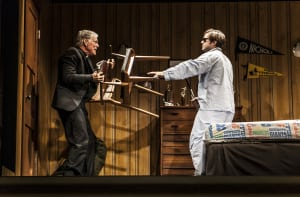 "Richard Chamberlain & Ben Schnitzer in ""Sticks and Bones"" (photo: Monique Carboni)"