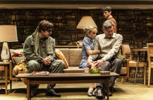 "Ben Schnitzer, Holly Hunter, Bill Pullman & Raviv Ullman in ""Sticks and Bones"" (photo: Monique Carboni)"
