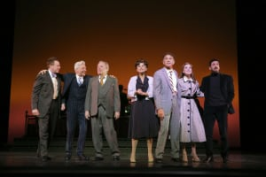 "Don Stephenson, Tony Sheldon, Michael McKean, Tracey Ullman, Brian Stokes Mitchell, Laura Osnes & Michael Barresse in ""The Band Wagon"" (photo: Joan Marcus)"