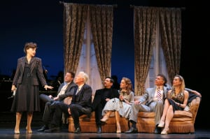 "Tracey Ullman, Don Stephenson, Tony Sheldon, Michael Barresse, Laura Osnes, Brian Stokes Mitchell & Brittany Marcin in ""The Band Wagon"" (photo: Joan Marcus)"