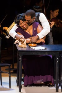 "NaTasha Yvette Williams & Norm Lewis in the NY Philharmonic's ""Show Boat"" (photo: Chris Lee)"